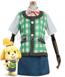 Animal Crossing: New Horizons Isabelle Green Cosplay Costume