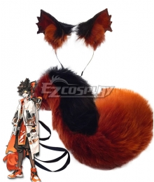 Arknights Aak Ears Tail Cosplay Accessory Prop