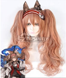 Arknights Angelina Brown Cosplay Wig