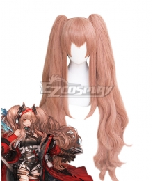 Arknights Angelina Visitor of Factor Orange Cosplay Wig