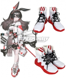 Arknights April White Cosplay Shoes