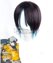 Arknights Asbestos Black Cosplay Wig