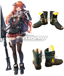 Arknights Bagpipe Green Cosplay Shoes