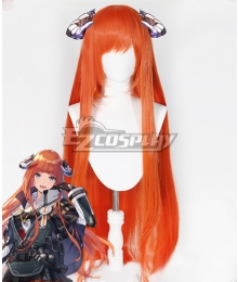 Arknights Bagpipe Orange Cosplay Wig