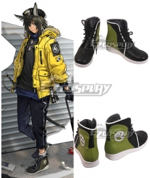 Arknights Courier New Routes Yellow Skin Black Cosplay Shoes