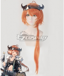 Arknights Croissant Orange Cosplay Wig