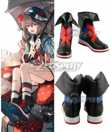 Arknights Cuora Quadrangle Black Cosplay Shoes