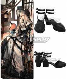 Arknights Elegy Skin Nightingale Cosplay Shoes