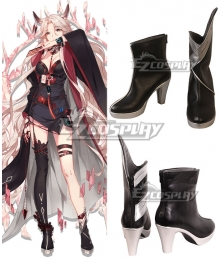 Arknights Elite Promotion Gitano Black Cosplay Shoes