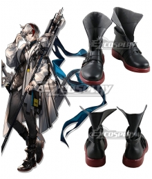 Arknights Elysium Black Cosplay Shoes