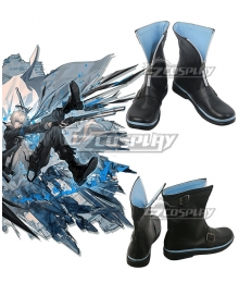 Arknights Executor Titleless Code Black Cosplay Shoes