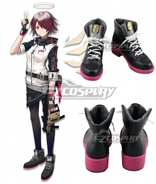 Arknights Exusiai Black Cosplay Shoes