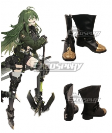 Arknights Gavial Epoque Black Cosplay Shoes