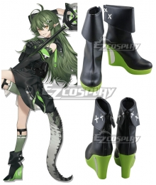 Arknights Gavial Green Cosplay Shoes