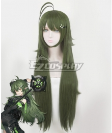 Arknights Gavial Green Cosplay Wig