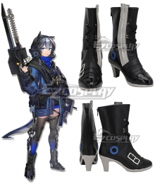 Arknights Glaucus Black Cosplay Shoes
