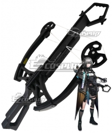 Arknights GreyThroat Black Crossbow Cosplay Weapon Prop