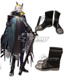 Arknights Hellagur Black Shoes Cosplay Boots