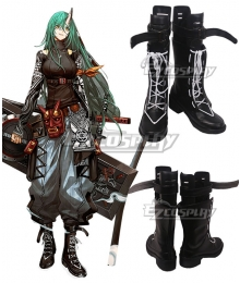 Arknights Hoshiguma Huntingronin Black Shoes Cosplay Boots