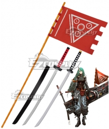 Arknights Hoshiguma Huntingronin Flag and Sword Cosplay Acceessory Prop