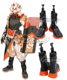 Arknights Hung  Black Shoes Cosplay Boots