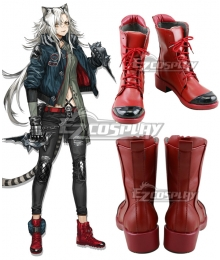 Arknights Indra Red Cosplay Shoes