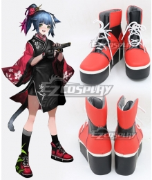 Arknights Jessica New Year Skin Red Cosplay Shoes