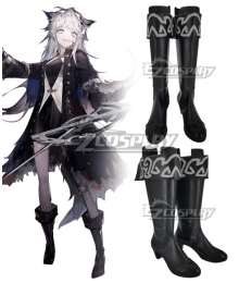 Arknights Lappland Refined Horrormare Black Cosplay Boots