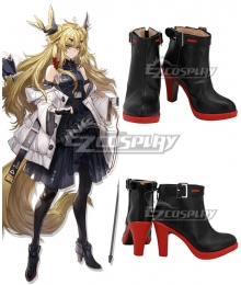 Arknights Leizi Black Cosplay Shoes