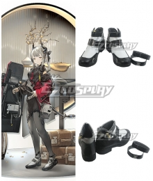 Arknights Liskarm New Year Skin Black Cosplay Shoes