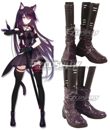 Arknights Melantha Purple Cosplay Shoes