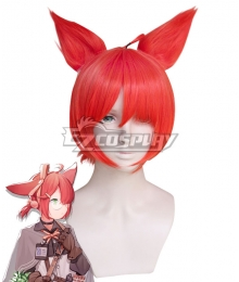 Arknights Myrrh Red Cosplay Wig