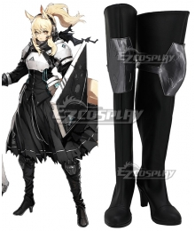 Arknights Nearl Black Shoes Cosplay Boots