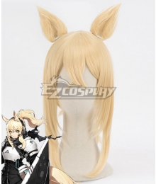 Arknights Nearl Golden Cosplay Wig - Wig + Ears