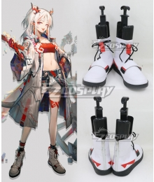 Arknights Nian White Cosplay Boots
