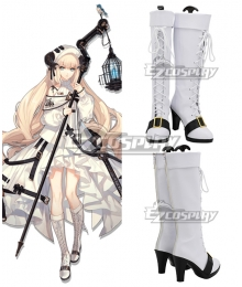 Arknights Nightingale White Shoes Cosplay Boots