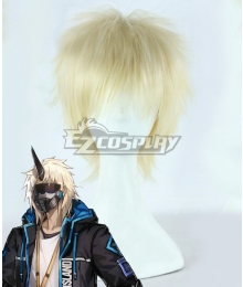 Arknights Noir Corne Golden Cosplay Wig