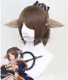 Arknights Perfumer Brown Cosplay Wig And Ears