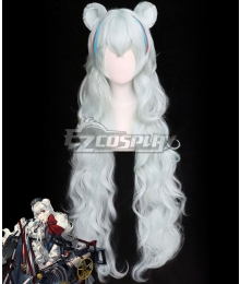Arknights Poca White Cosplay Wig