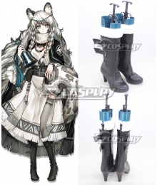 Arknights Pramanix Black Shoes Cosplay Boots