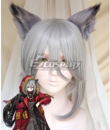 Arknights Projekt Red Gray Cosplay Wig - Wig + Ears