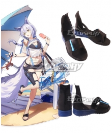 Arknights Provence HD08 MARTHE Black Cosplay Shoes