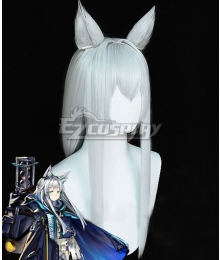 Arknights Rosmontis White Cosplay Wig