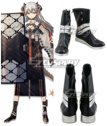 Arknights Saria Black Shoes Cosplay Boots