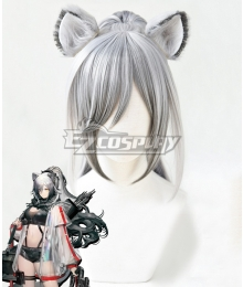Arknights Schwarz Gray Cosplay Wig - Wig + Ears