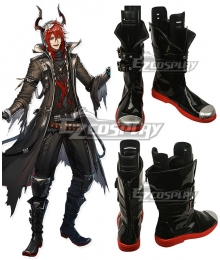 Arknights Sesa Black Shoes Cosplay Boots