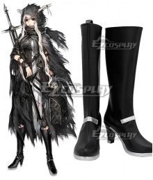 Arknights Shining Black Shoes Cosplay Boots