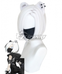 Arknights ShiraYuki White Cosplay Wig - Wig + Ears