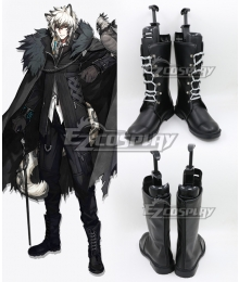 Arknights Silverash Black Shoes Cosplay Boots