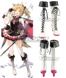 Arknights Sora White Shoes Cosplay Boots
